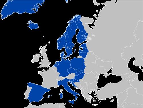 Kraje uczestniczące w Eurojackpot